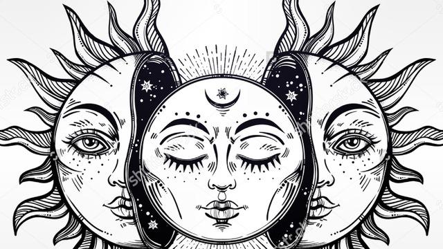 Line Art Of Sun : Moon sun luna tumblr