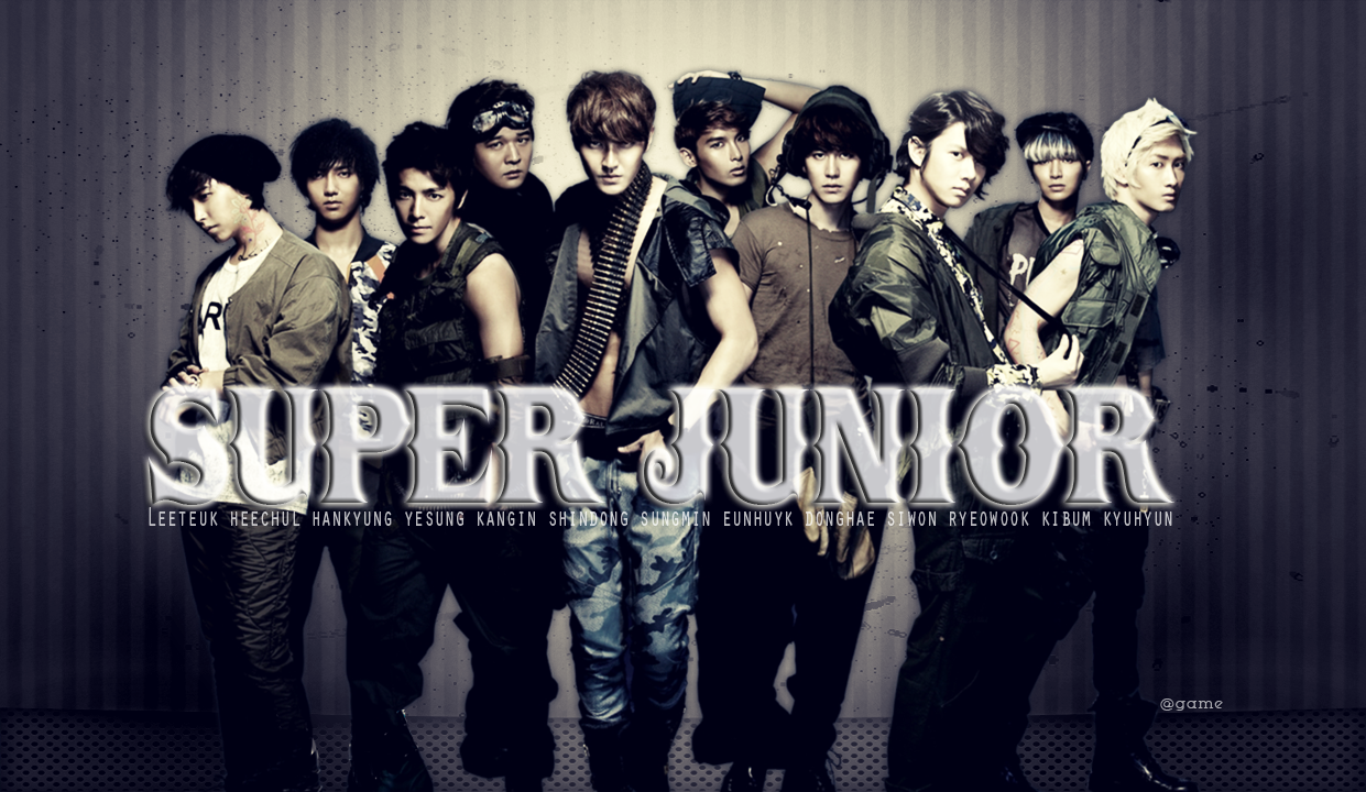 Korean Kpop Boy Group Super Junior