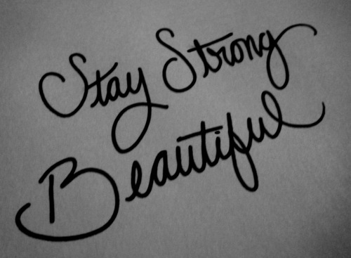 be strong beautiful