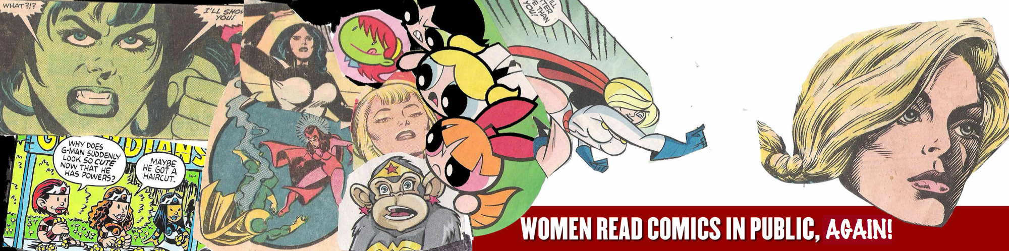 Women Read Comics in Public 3