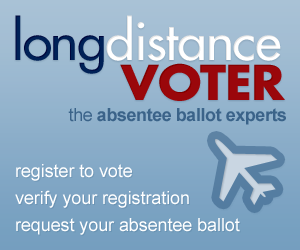 Register to vote, verify your voter registration, and get your absentee ballot at LongDistanceVoter.org