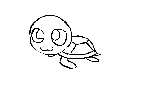 Cute Sea Turtles Drawings on Owl Coloring Pages