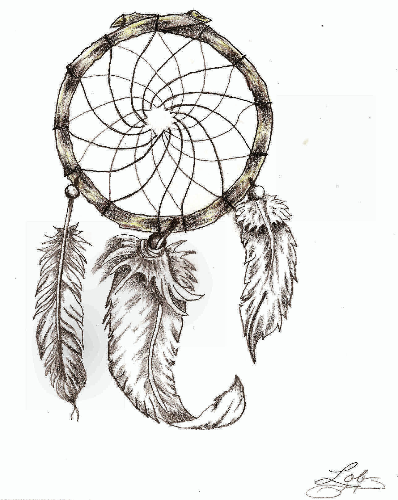 dreamcatcher wolves feathers white - photo #37