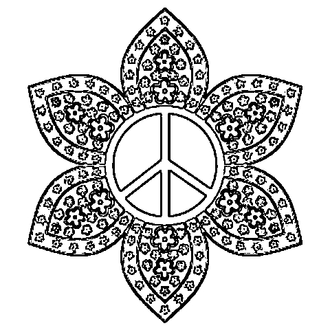 peace sign mandala coloring pages coloring book pages 2012filed peace sign coloring pages