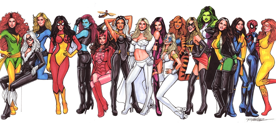 Marvel Women Kicking Ass