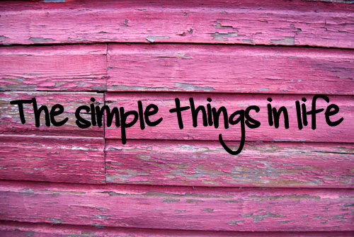 -The Simple Things In Life-