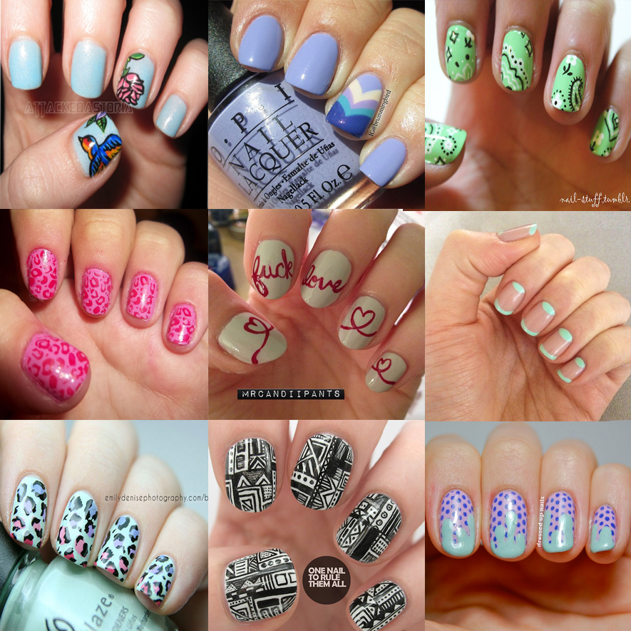 nail art unhas curtas