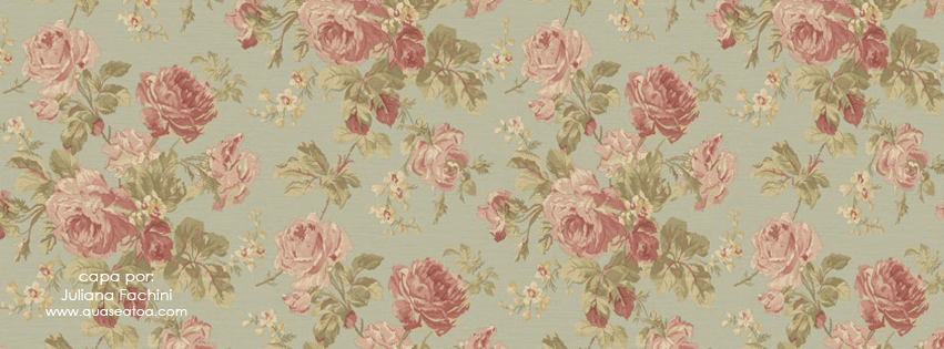 capa facebook vintage floral