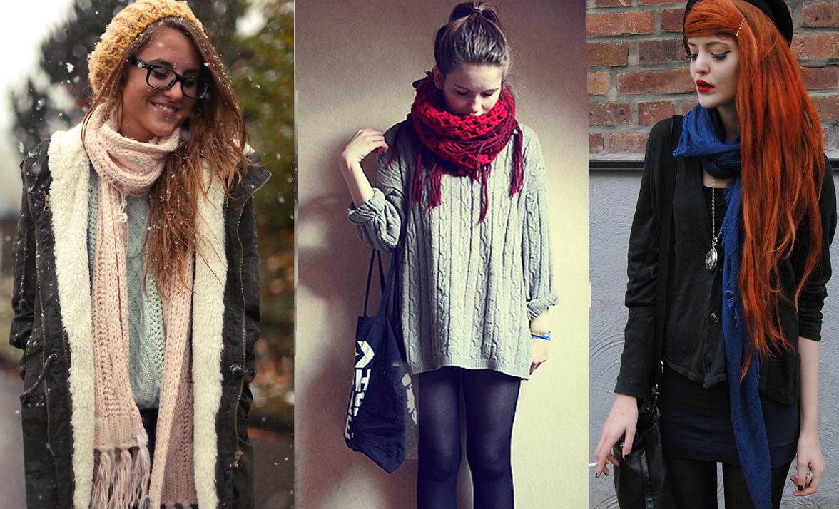 looks com cachecol scarf