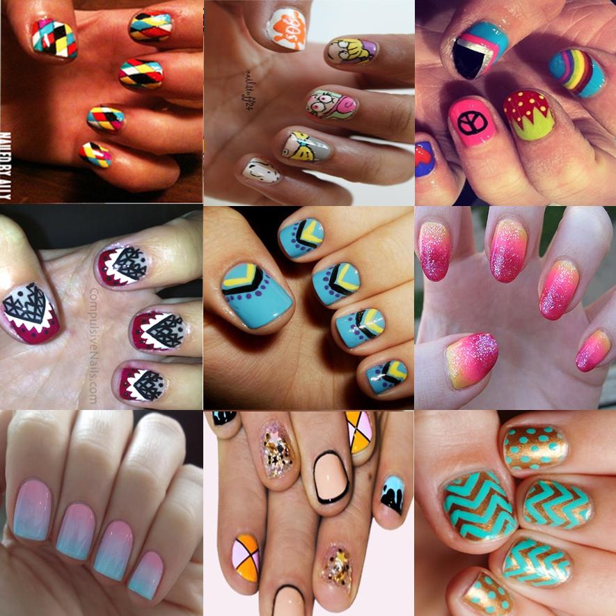 nail art para unhas curtas