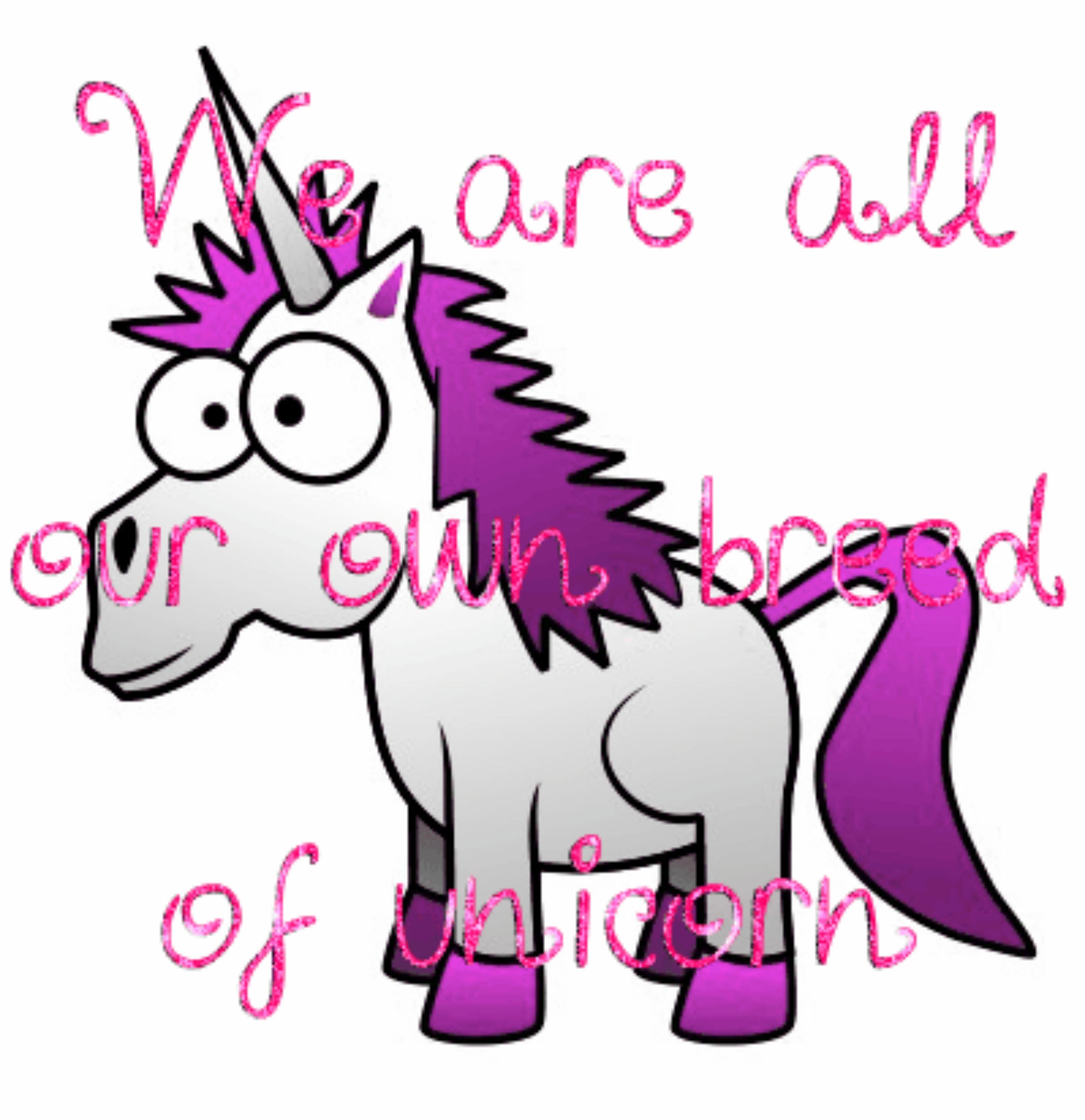 Cute cartoon unicorns