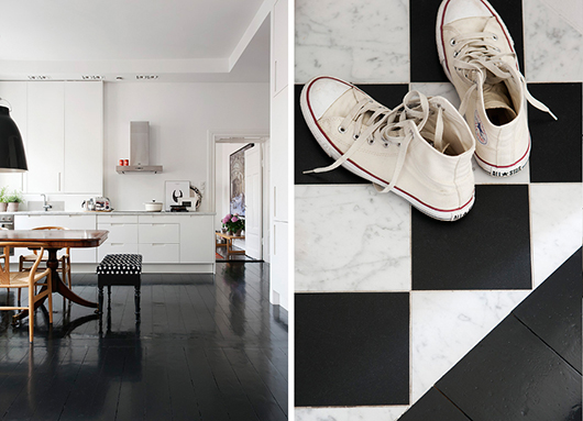 A monochromatic palette is broken up by unexpected design elements   Thou Swell on Stripes & Peonies