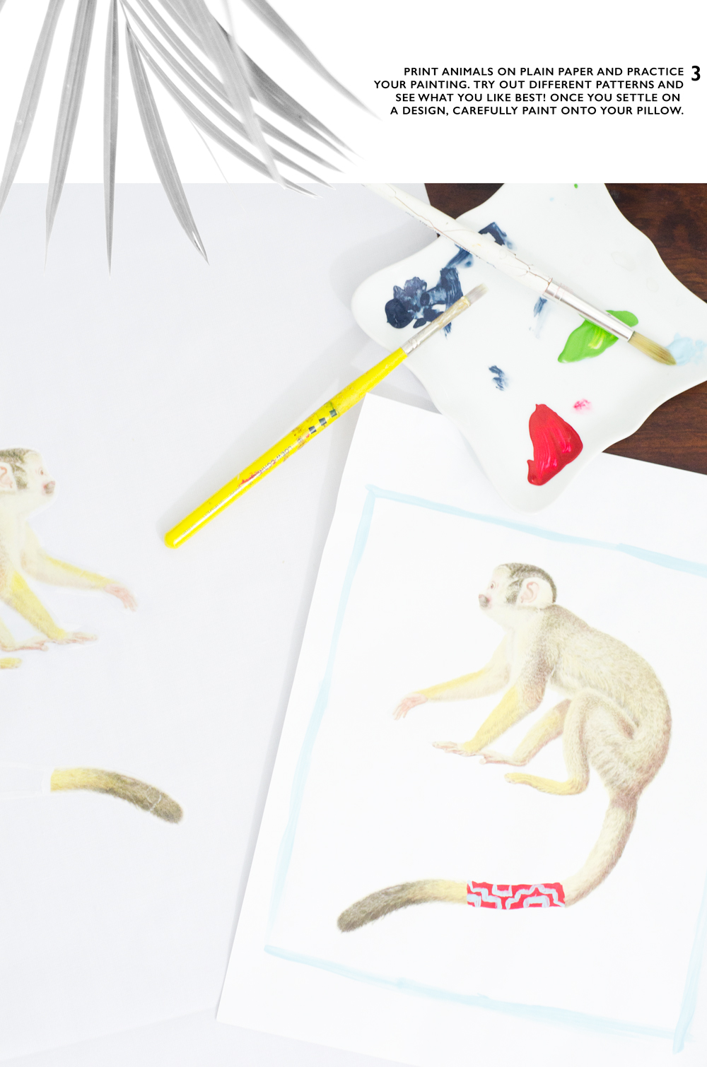 #DIY whimsical painted animal pillows from Thou Swell https://thouswell.com/