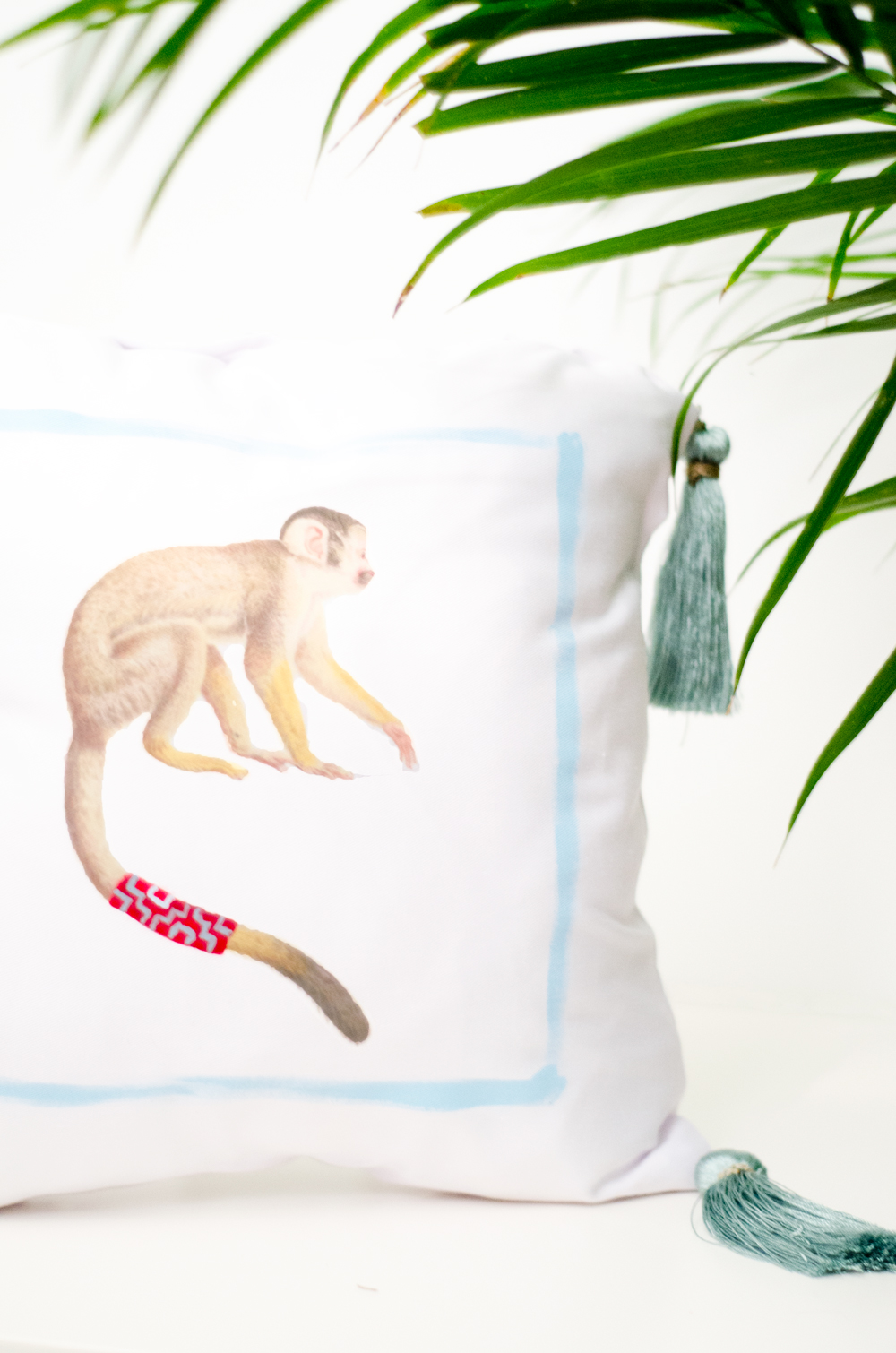 #DIY whimsical painted animal pillows from Thou Swell http://thouswell.com/