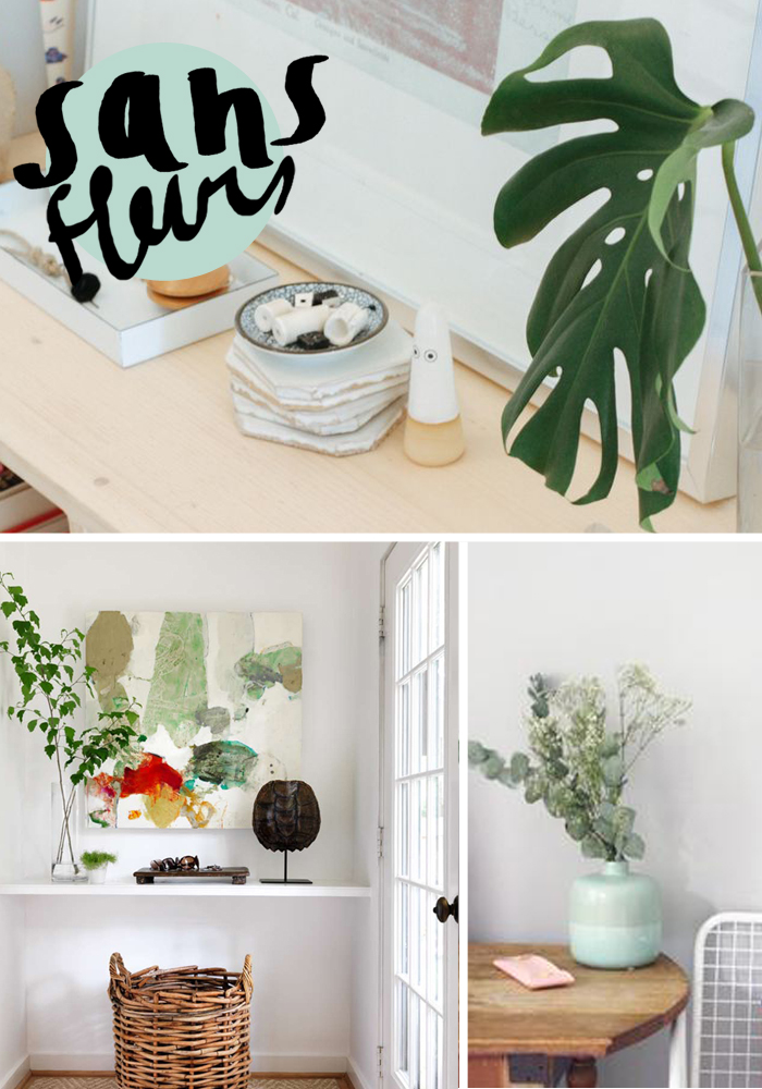 SANS FLEURS: Using greenery for easy and impactful arrangements via Thou Swell