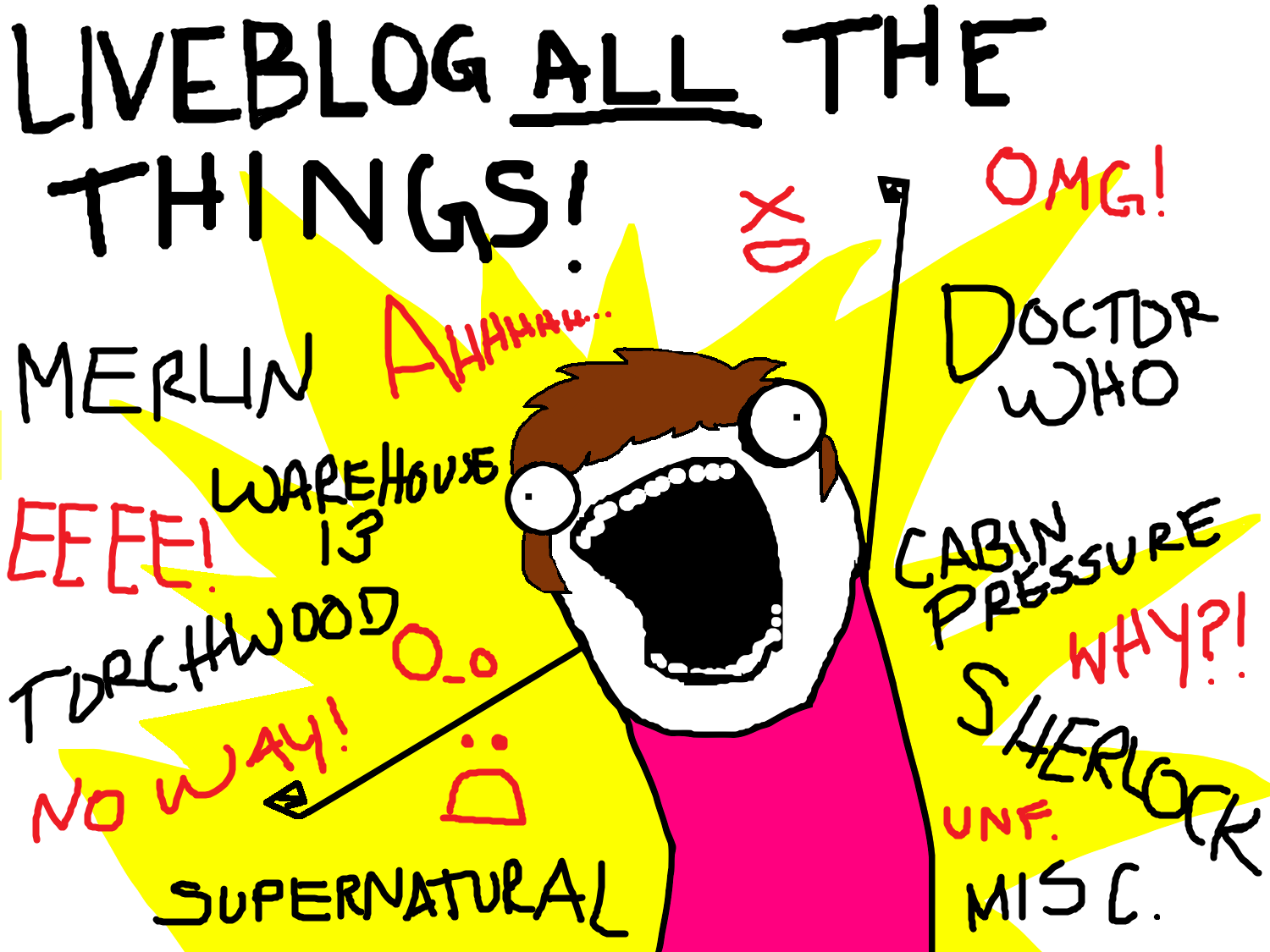 LIVEBLOG ALL THE THINGS!