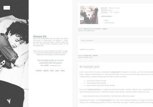 Plain Tumblr Themes 4 Column - perfectic themes