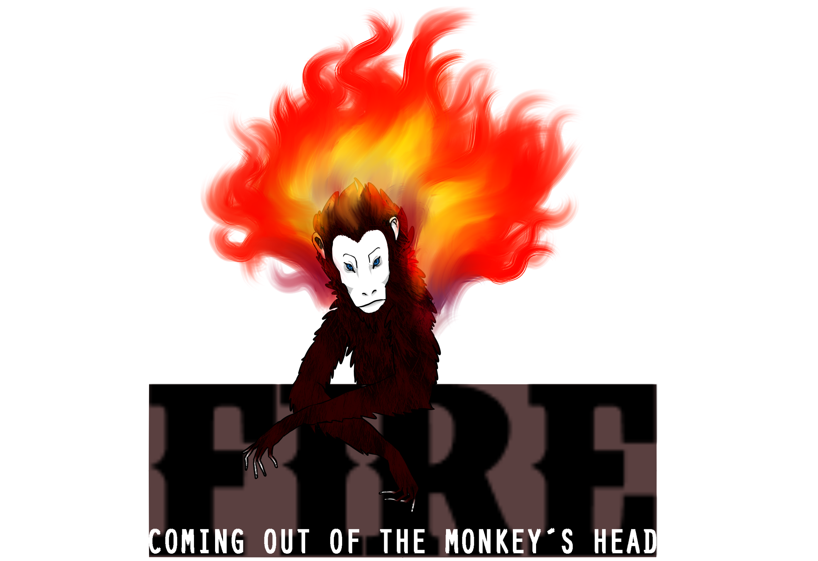 Fire coming out of the Monkey´s head