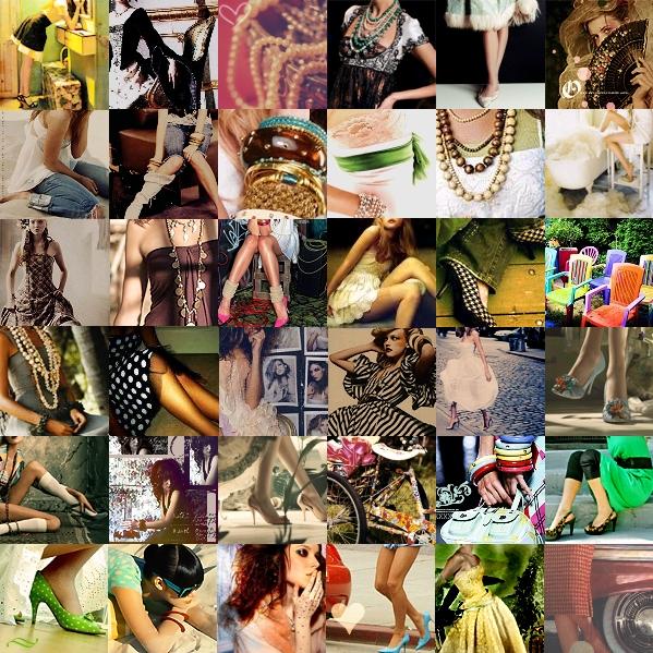 Vintage Fashion Collage