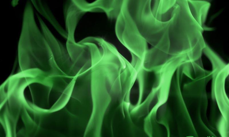 Green Fire Wallpaper Background 1 of 37