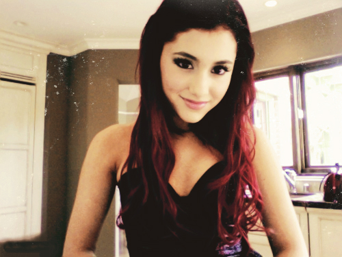 ariana grande makeup. ariana grande brown hair.
