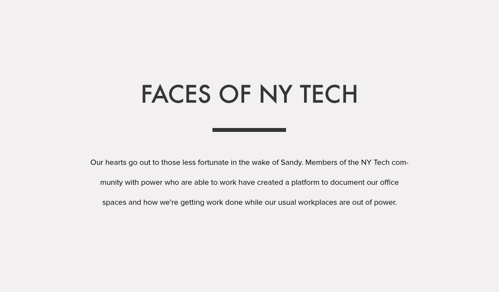 Faces of NY Tech