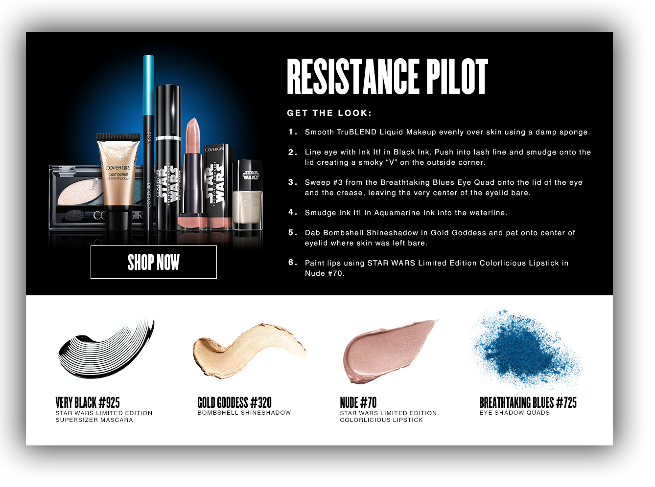 Star wars limited edition collection i covergirl close overlay resistance pilot facechart nvjuhfo Images