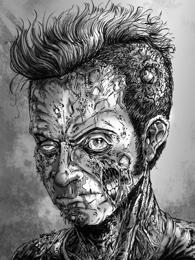 Zombie Face Line Drawing : Zombie face drawings imgkid the image kid has it