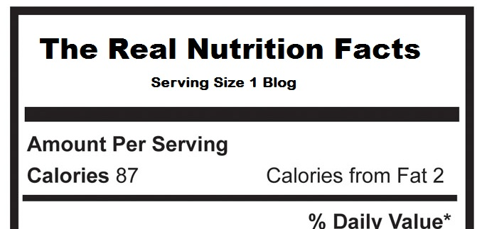 The Real Nutrition Facts