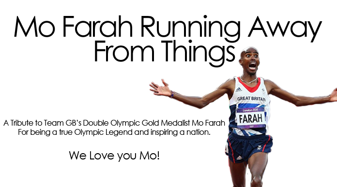 Mo Farah Running Away From Things