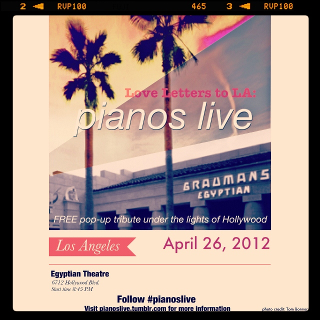 Love Letters to LA: pianos live