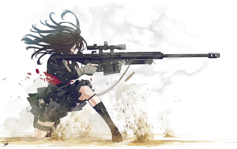 Air force sniper girl