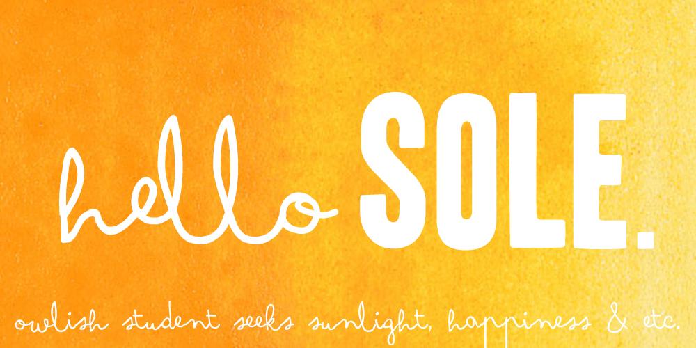 Hello Sole.