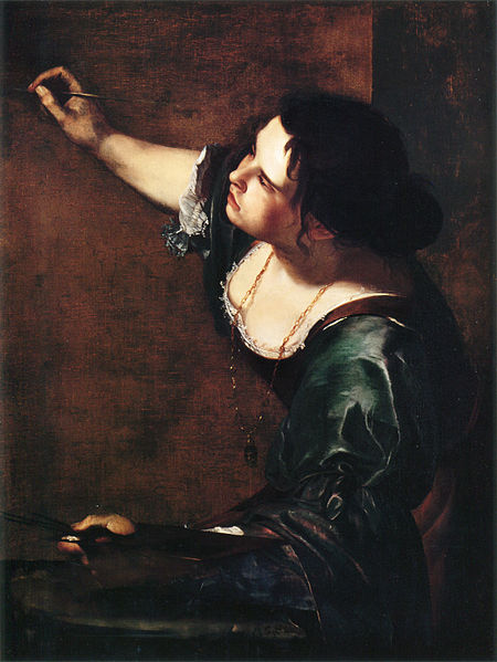 The painting is a self portrait of Artemisia Gentileschi.