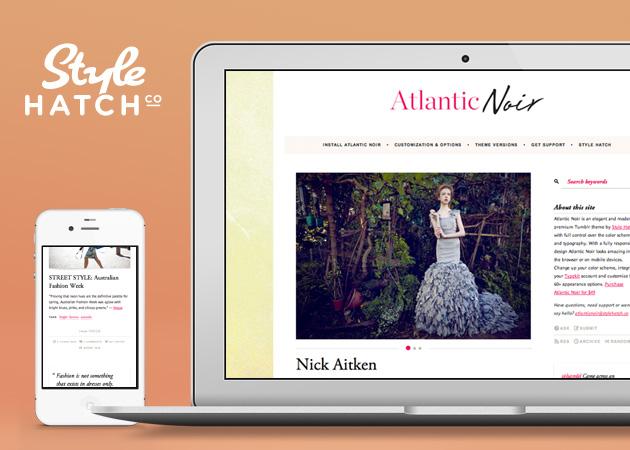 Atlantic Noir - Mobile Site Design