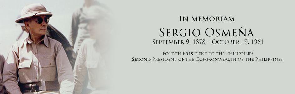 matrix of sergio osmena Sergio serge de la rama osmeña iii, (born december 13, 1943) is a filipino politician and the grandson of philippine president sergio osmeñahe was a senator of the republic of the philippines for three terms.