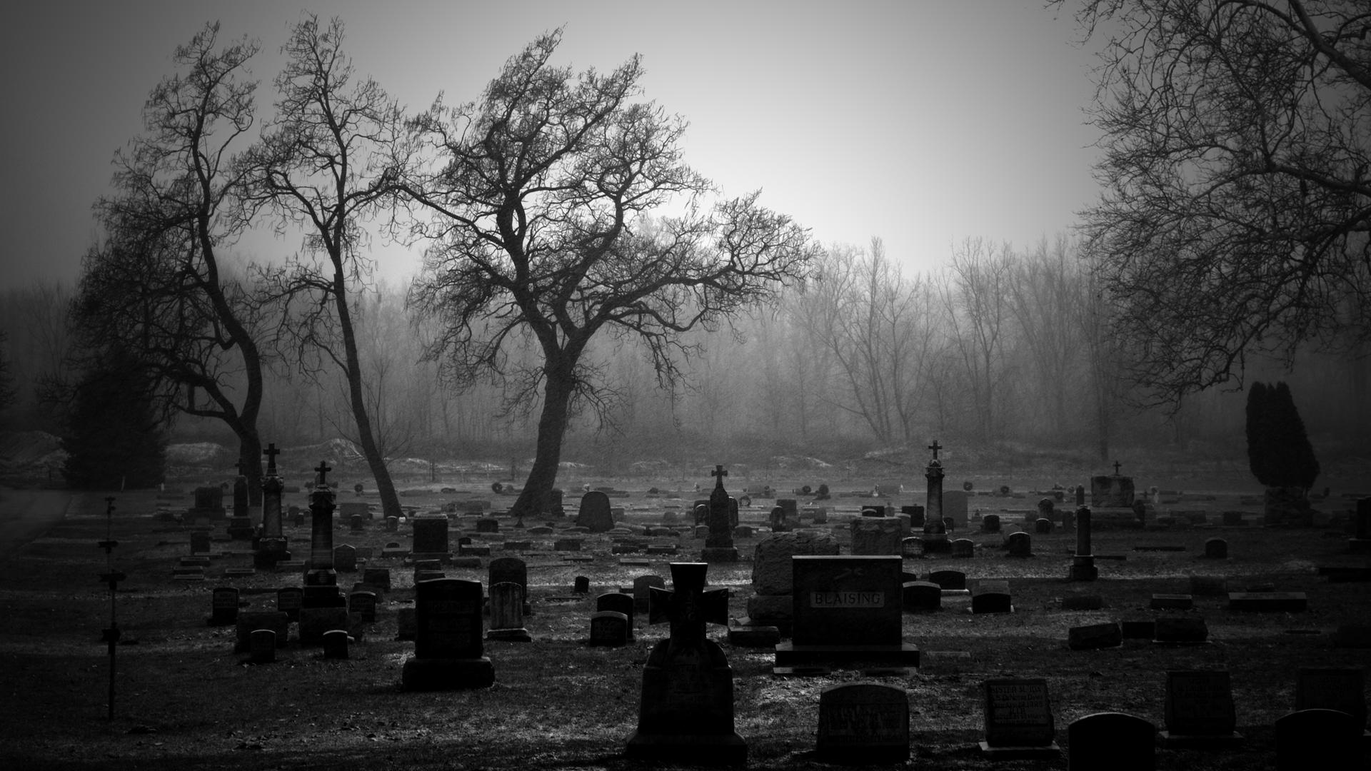 Scary Graveyard Background Creepy Backgrounds