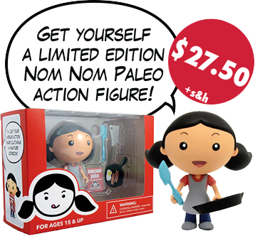 Purchase a Nom Nom Paleo action figure!