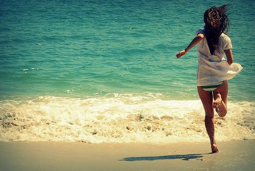 foto amiga vacacion playa: