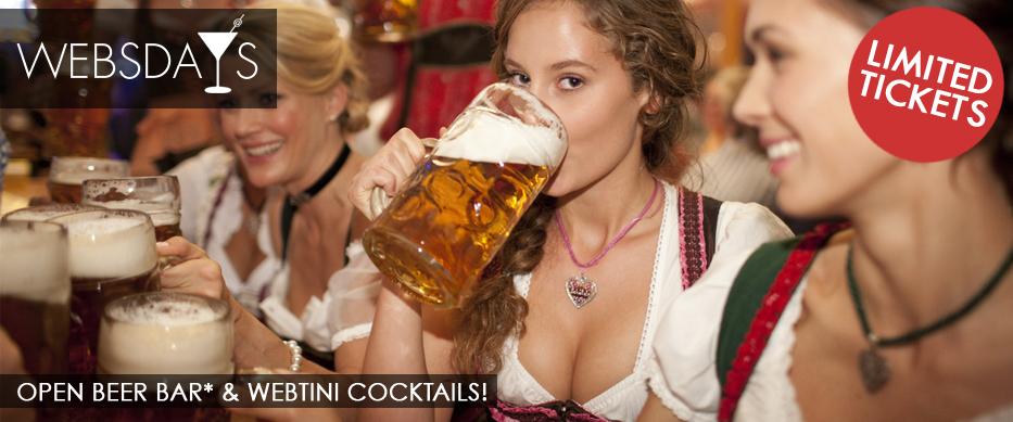Websdays Open Beer Bar & Webtini Cocktails