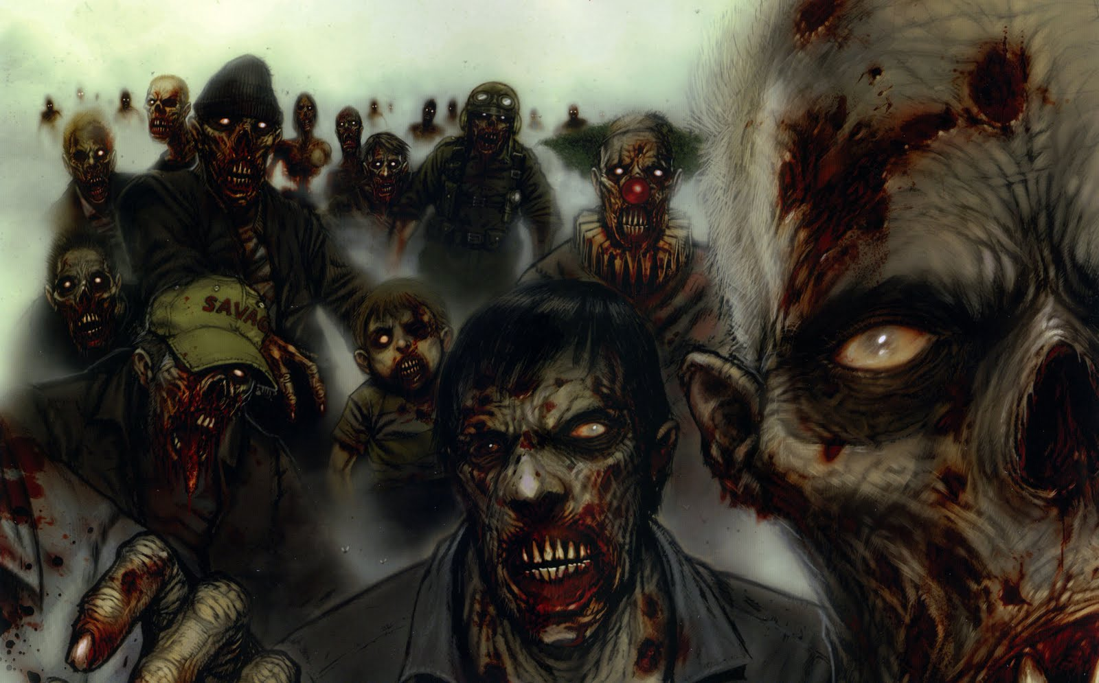 zombies eating people
