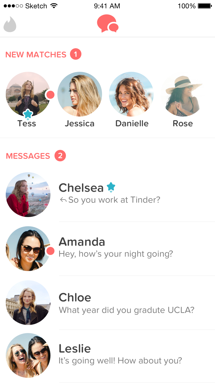 tinder deleted my matches page