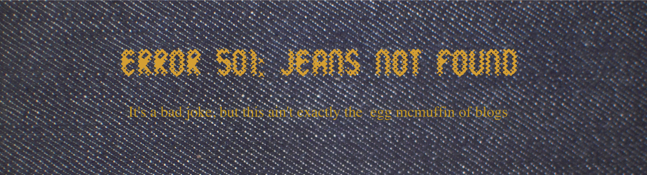 Error 501: Jeans Not Found