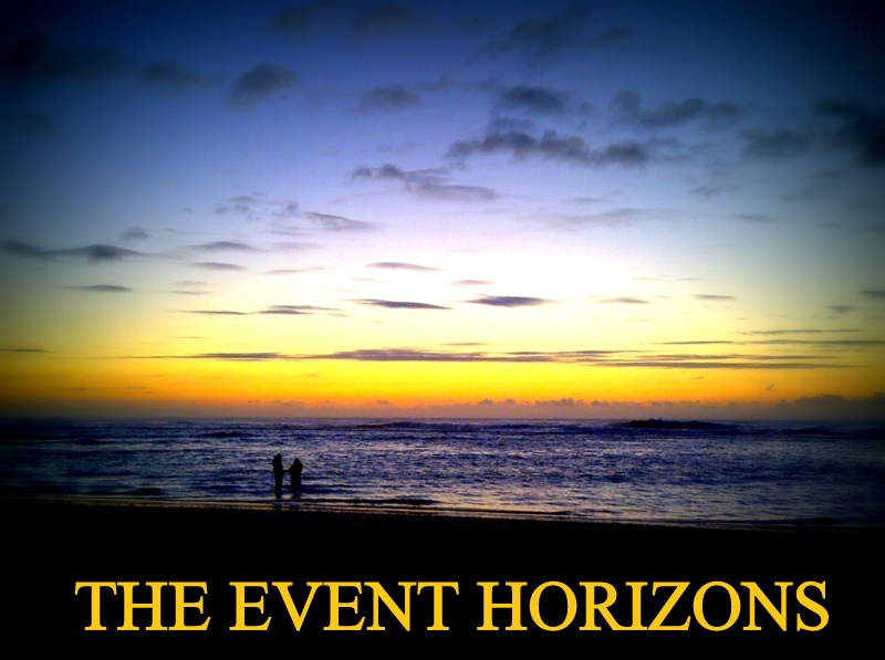 The event horizons.