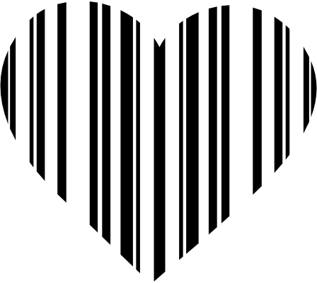 Black  White Striped Dress on Black And White Striped Heart Clipart Png