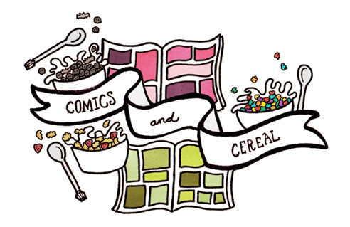 comics and cereal!