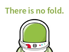 There is no fold.
