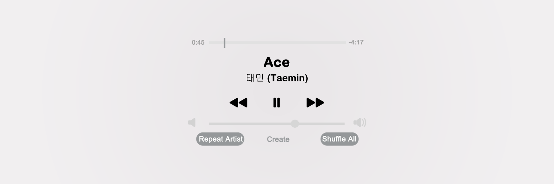 welcome ♡ — taemin {ace album} playlist headers