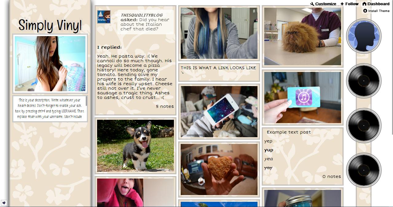 Free tumblr themes themes by kristina maxwellsz