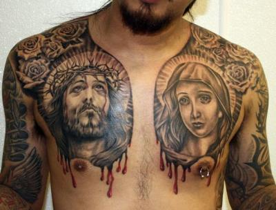 tattoos of jesus face